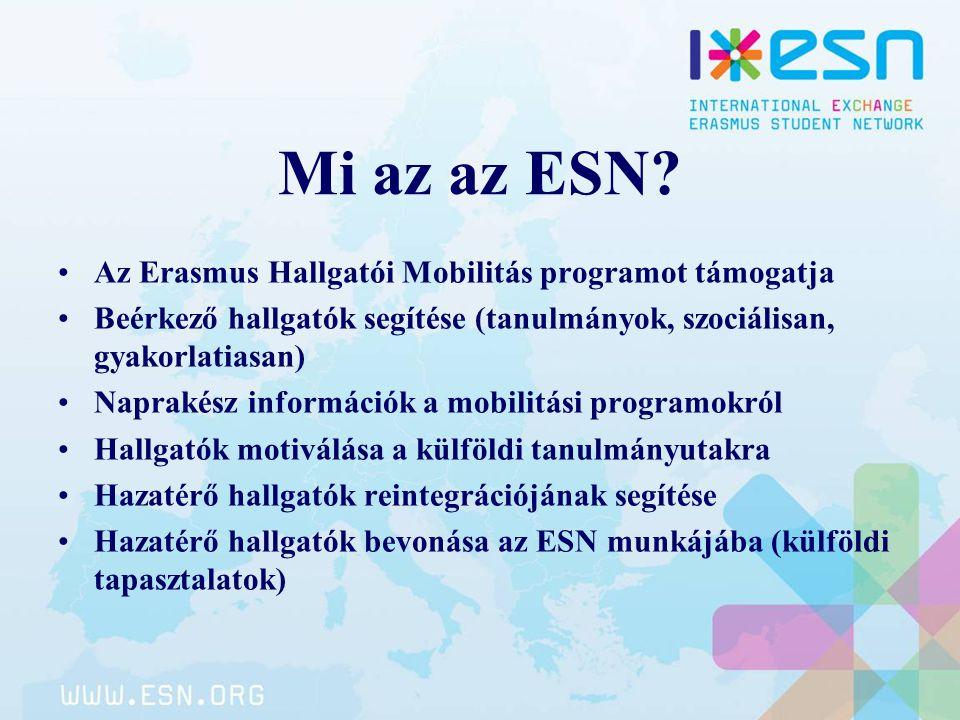 Mi az az ESN Az Erasmus Hallgatói Mobilitás programot támogatja