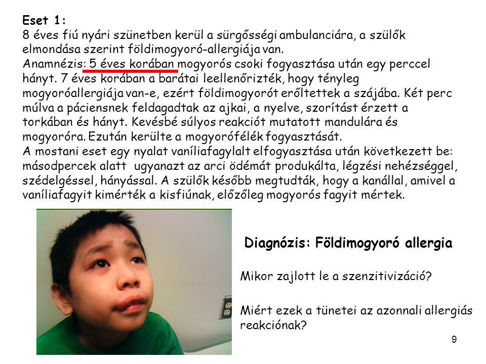 Diagnózis: Földimogyoró allergia