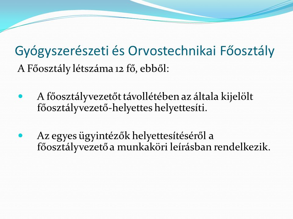 Gyógyszerészeti és Orvostechnikai Főosztály