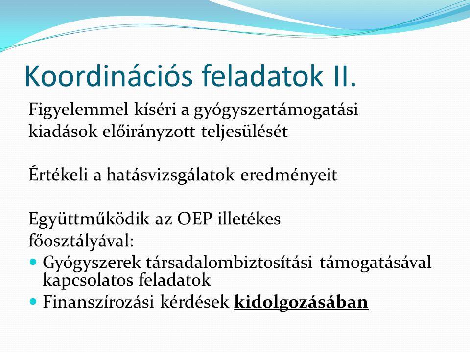 Koordinációs feladatok II.