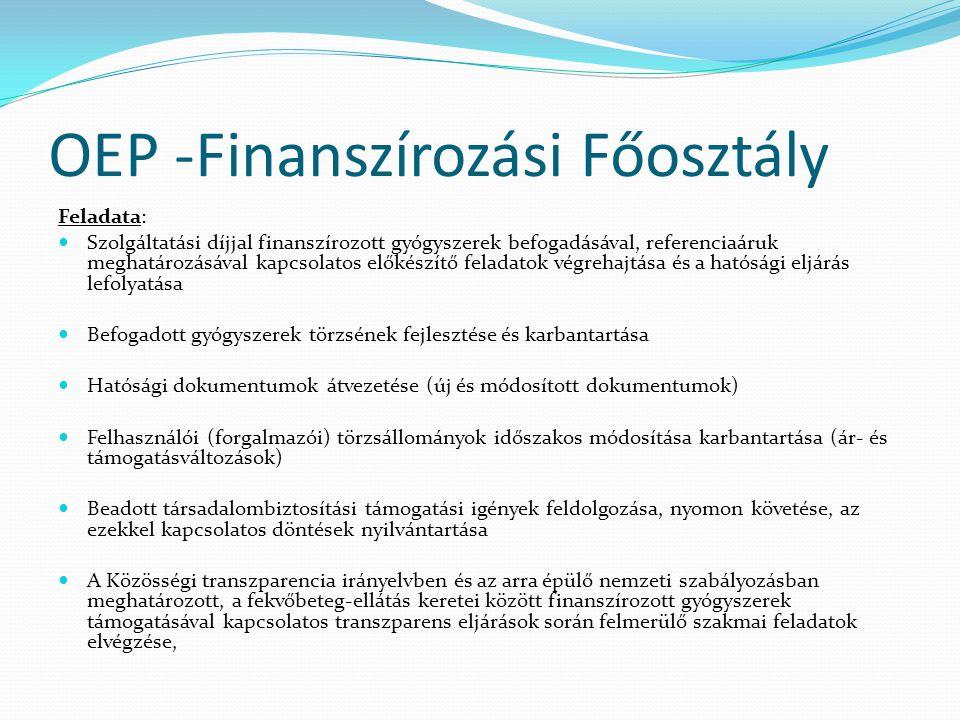 OEP -Finanszírozási Főosztály