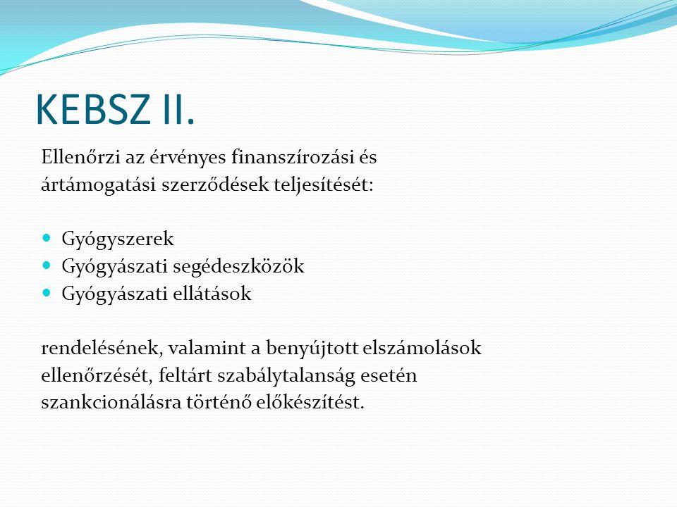 KEBSZ II. Ellenőrzi az érvényes finanszírozási és