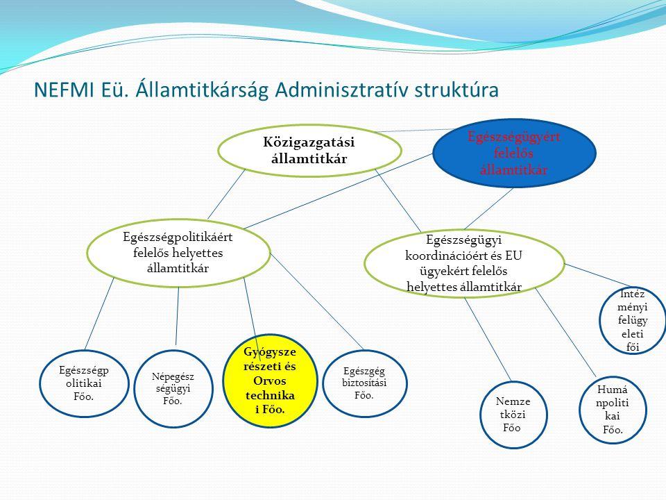 NEFMI Eü. Államtitkárság Adminisztratív struktúra