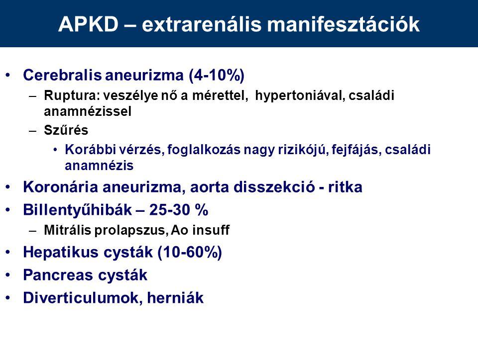 APKD – extrarenális manifesztációk