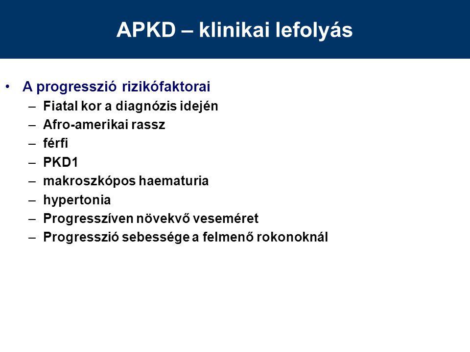 APKD – klinikai lefolyás