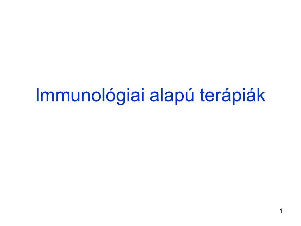 Immunológiai alapú terápiák