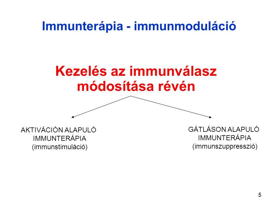Immunterápia - immunmoduláció