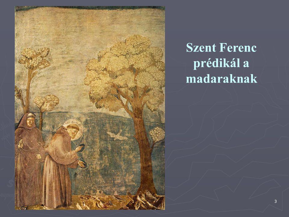 Szent Ferenc prédikál a madaraknak