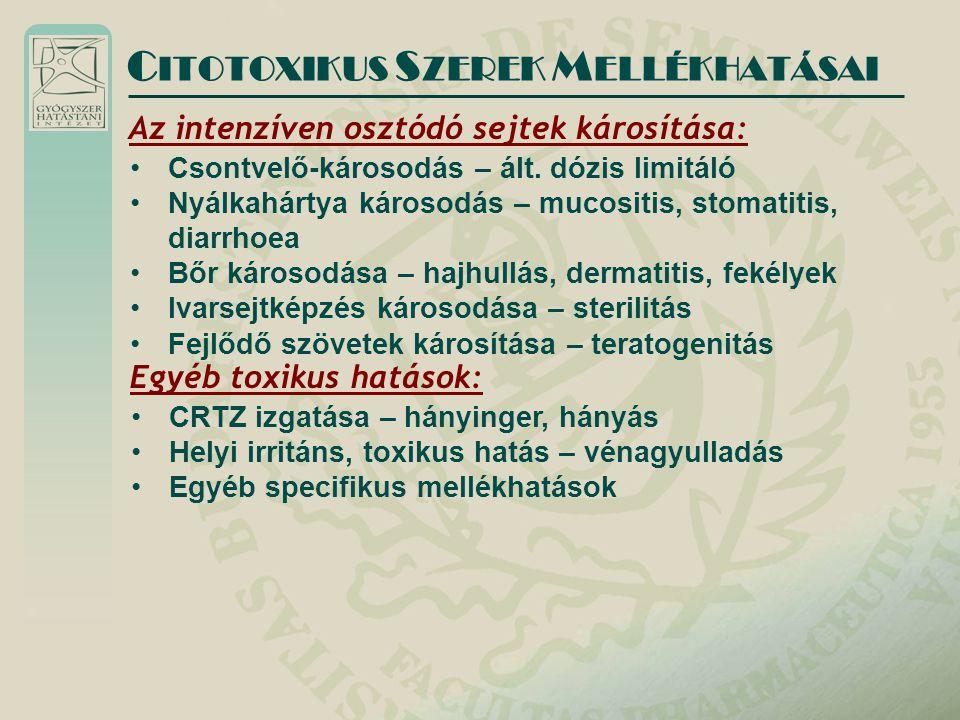 CITOTOXIKUS SZEREK MELLÉKHATÁSAI