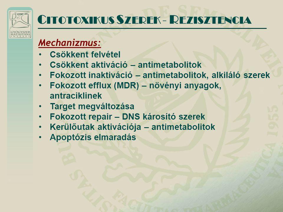 CITOTOXIKUS SZEREK - REZISZTENCIA