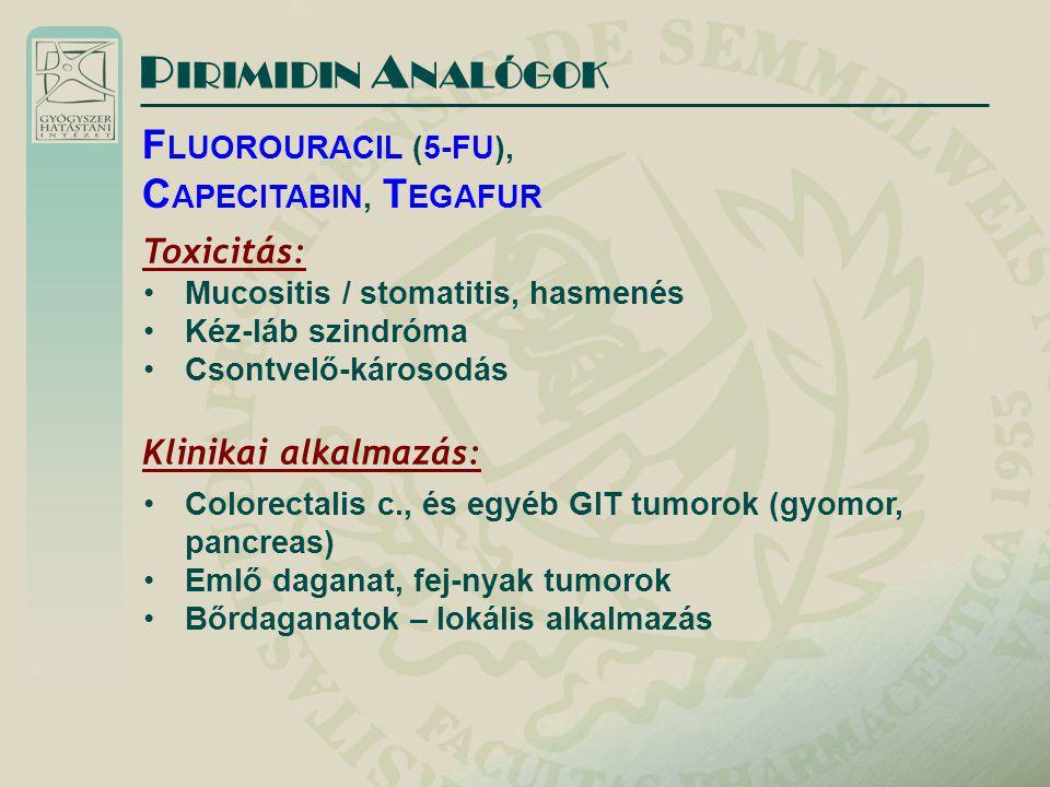 PIRIMIDIN ANALÓGOK FLUOROURACIL (5-FU), CAPECITABIN, TEGAFUR