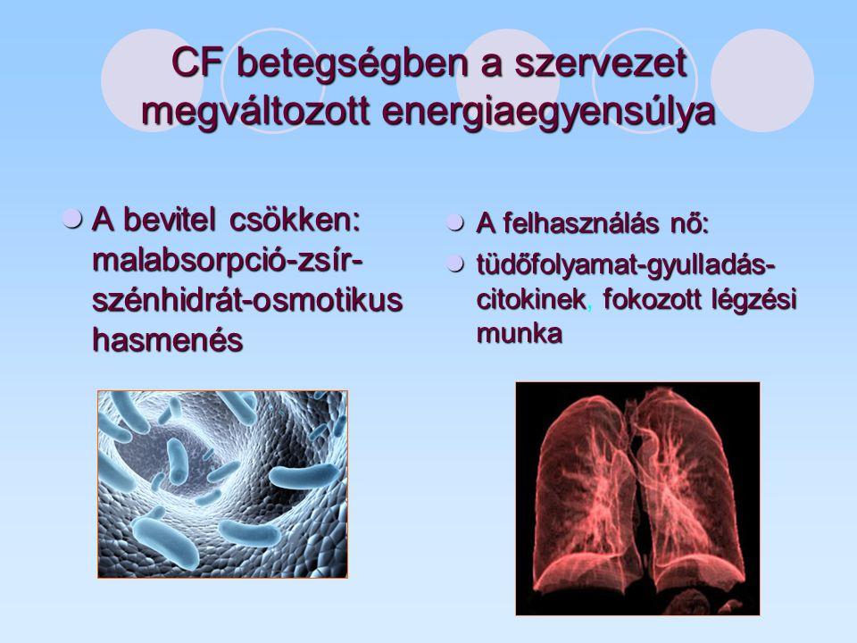CF betegségben a szervezet megváltozott energiaegyensúlya