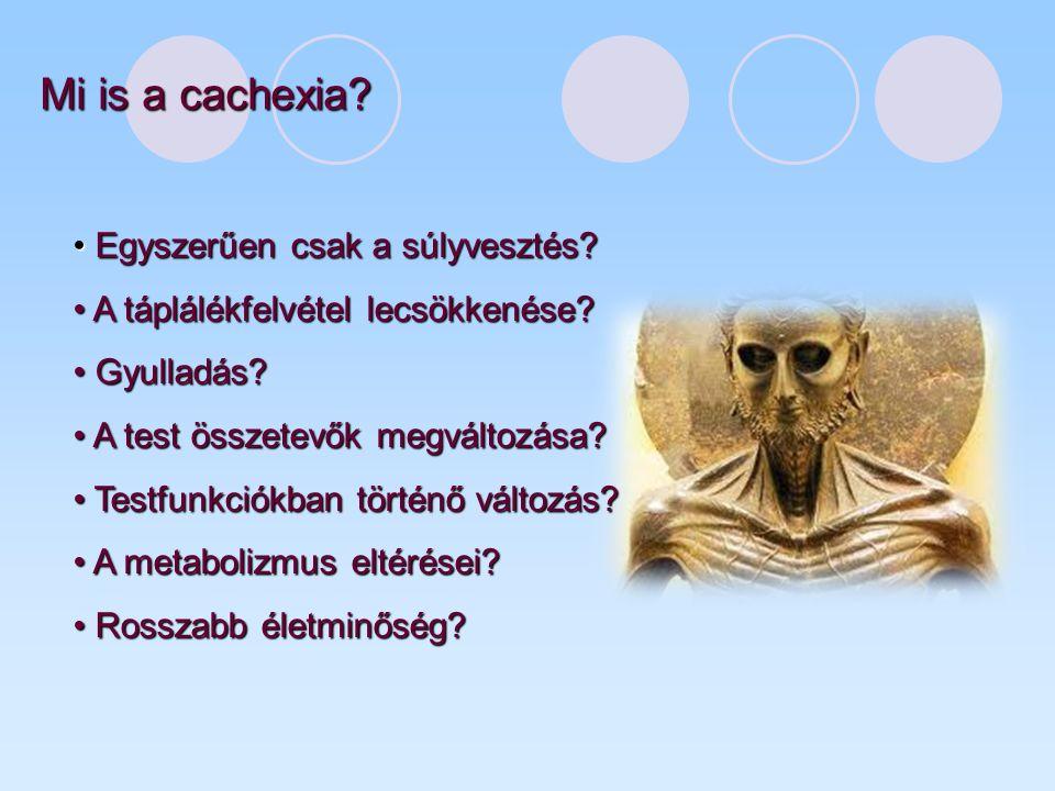 Mi is a cachexia Egyszerűen csak a súlyvesztés