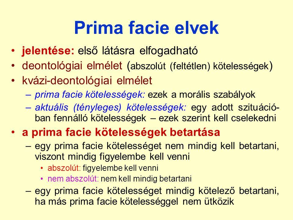 Prima facie elvek jelentése: első látásra elfogadható