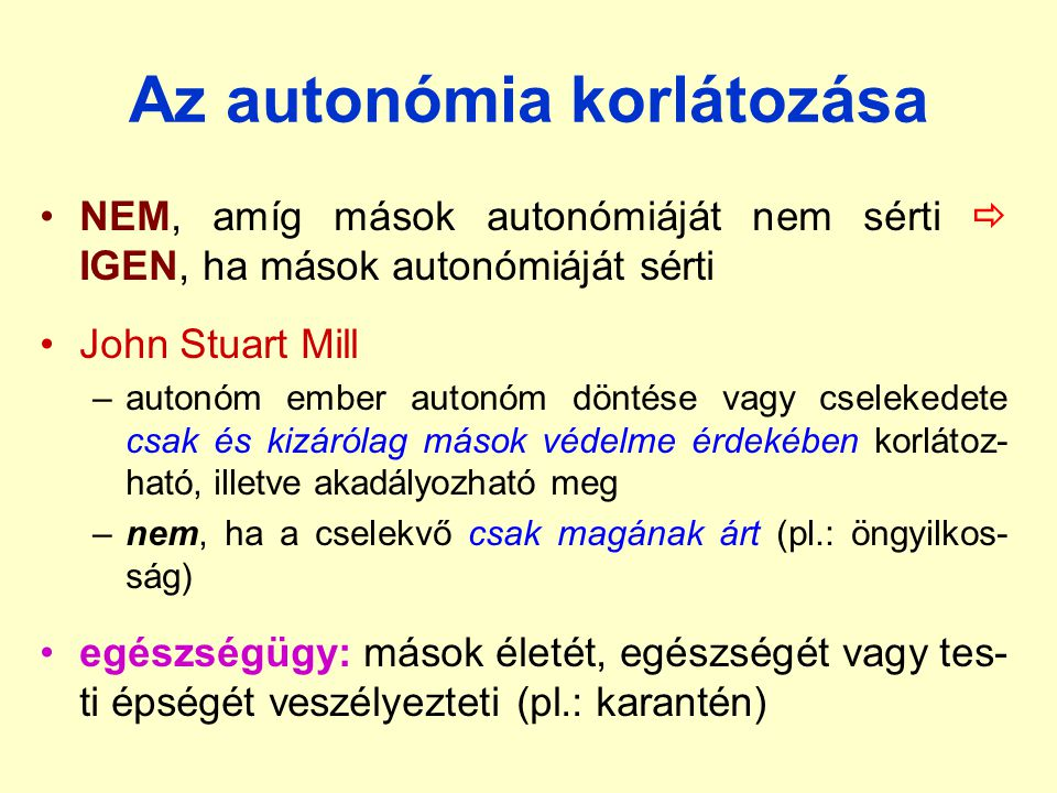 Az autonómia korlátozása