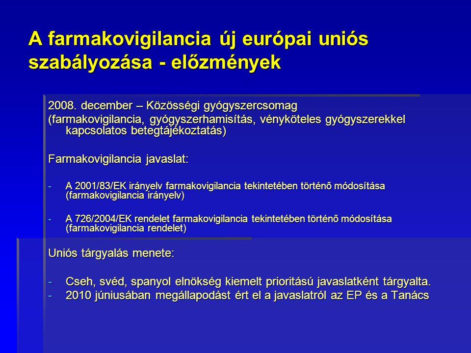 A farmakovigilancia új európai uniós szabályozása - előzmények