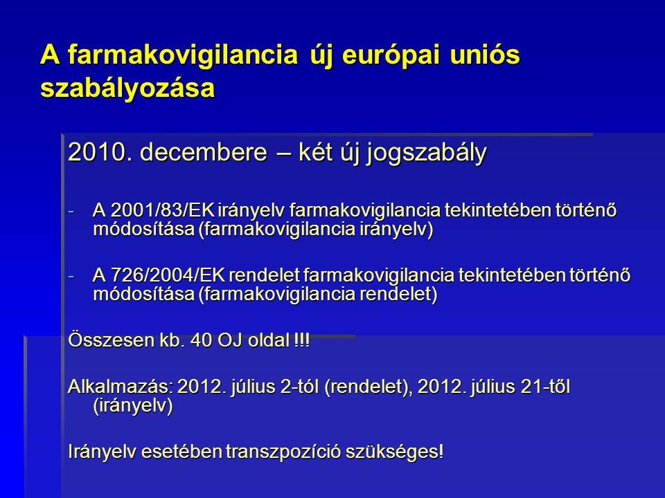 A farmakovigilancia új európai uniós szabályozása