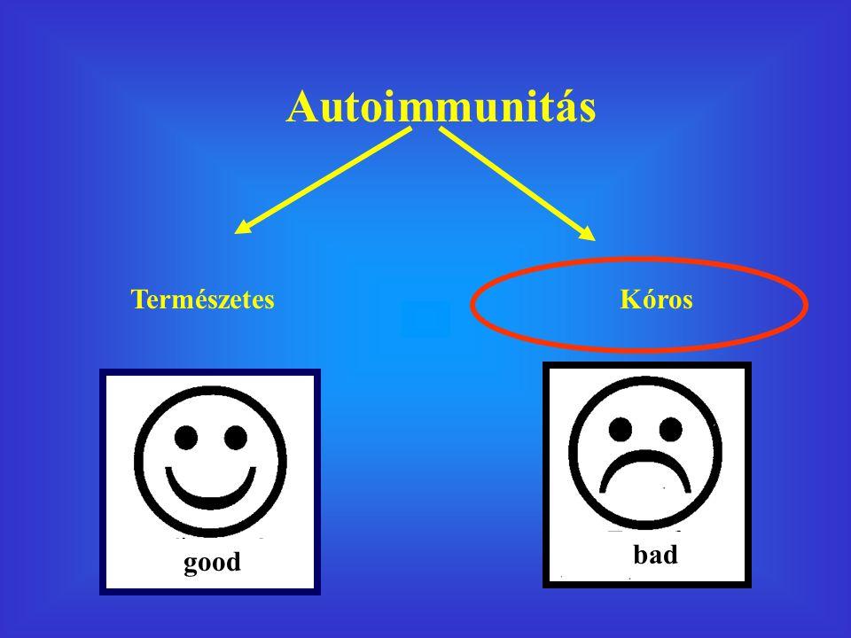 Autoimmunitás Természetes Kóros bad good