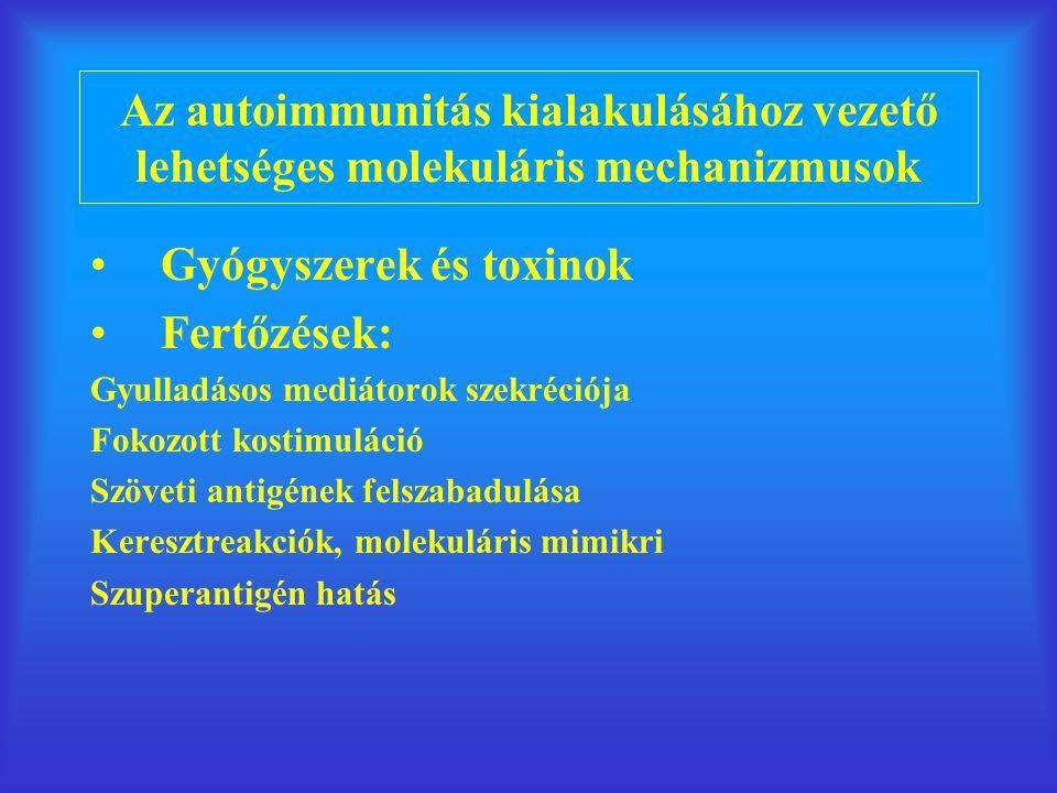 Gyógyszerek és toxinok Fertőzések: