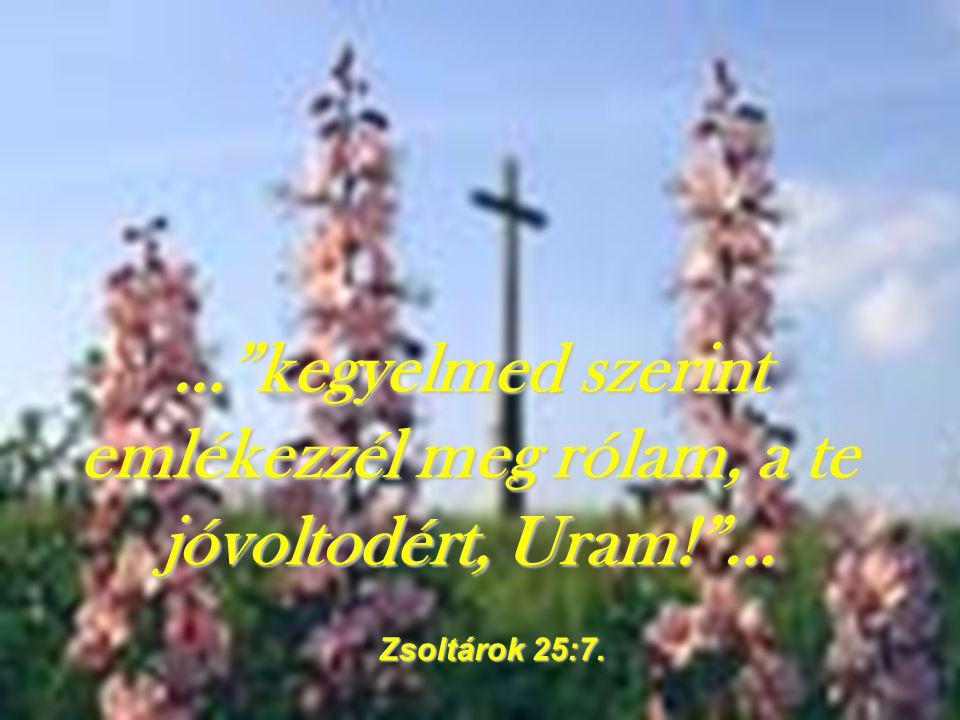… kegyelmed szerint emlékezzél meg rólam, a te jóvoltodért, Uram! …