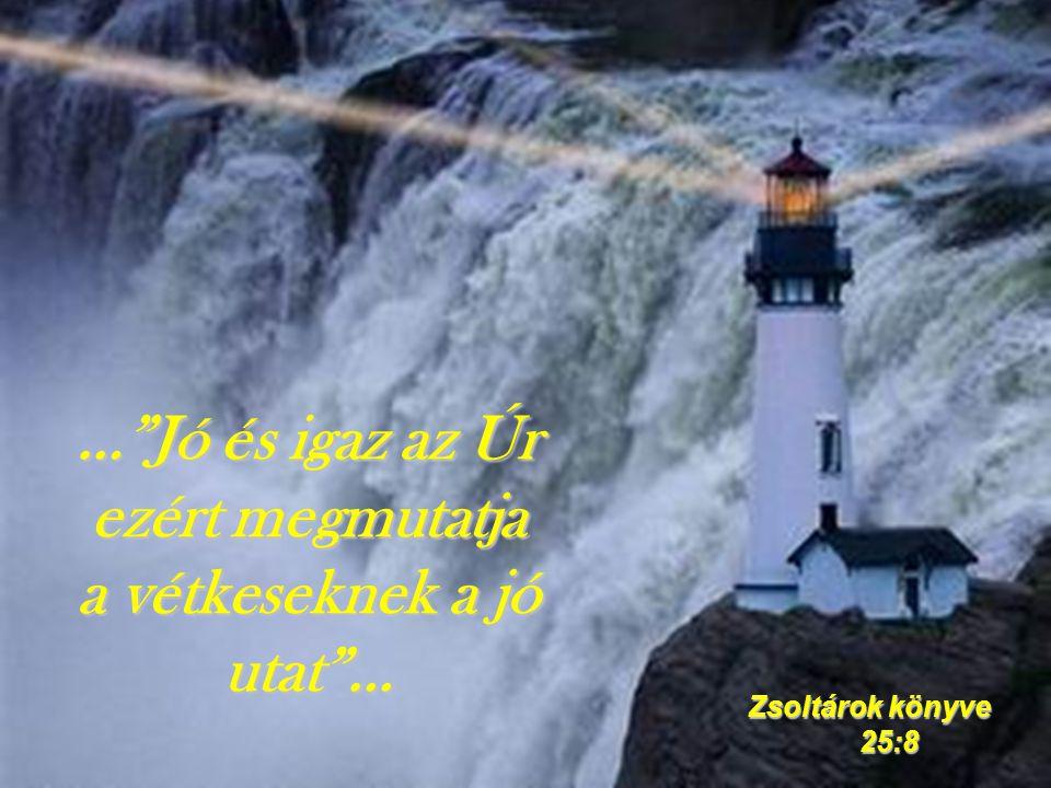 … Jó és igaz az Úr ezért megmutatja a vétkeseknek a jó utat …