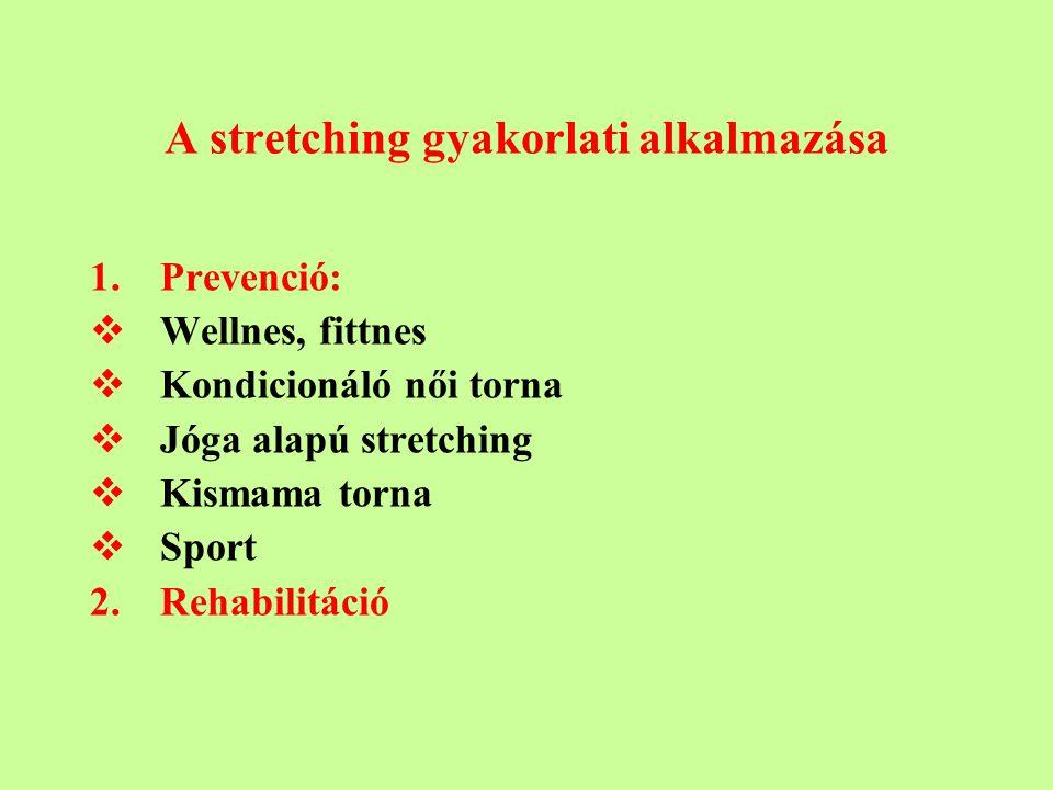 A stretching gyakorlati alkalmazása