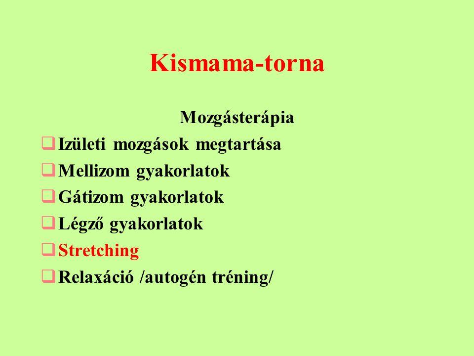 Kismama-torna Mozgásterápia Izületi mozgások megtartása
