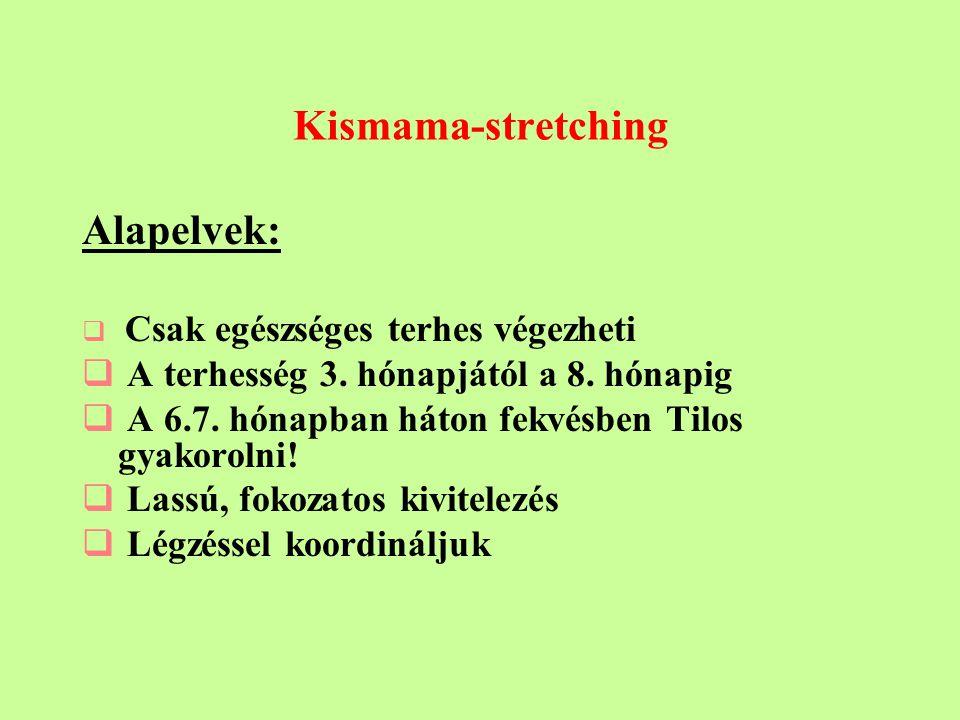 Kismama-stretching Alapelvek: A terhesség 3. hónapjától a 8. hónapig