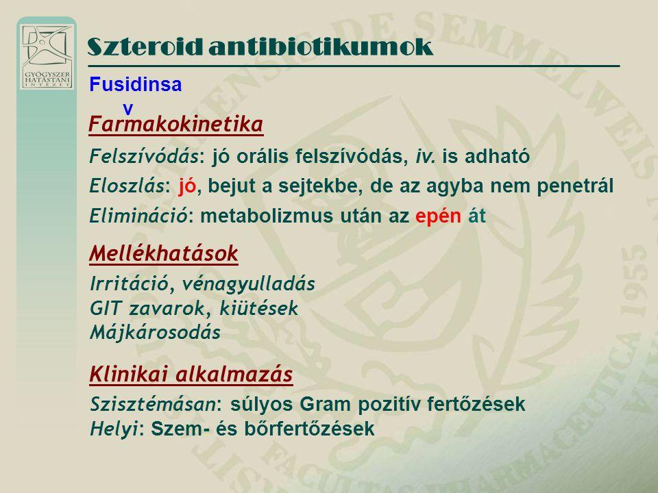 Szteroid antibiotikumok