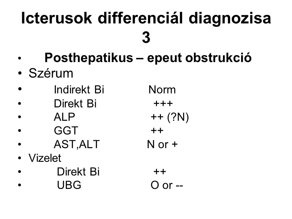 Icterusok differenciál diagnozisa 3