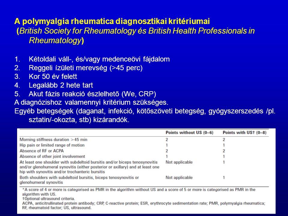 A polymyalgia rheumatica diagnosztikai kritériumai