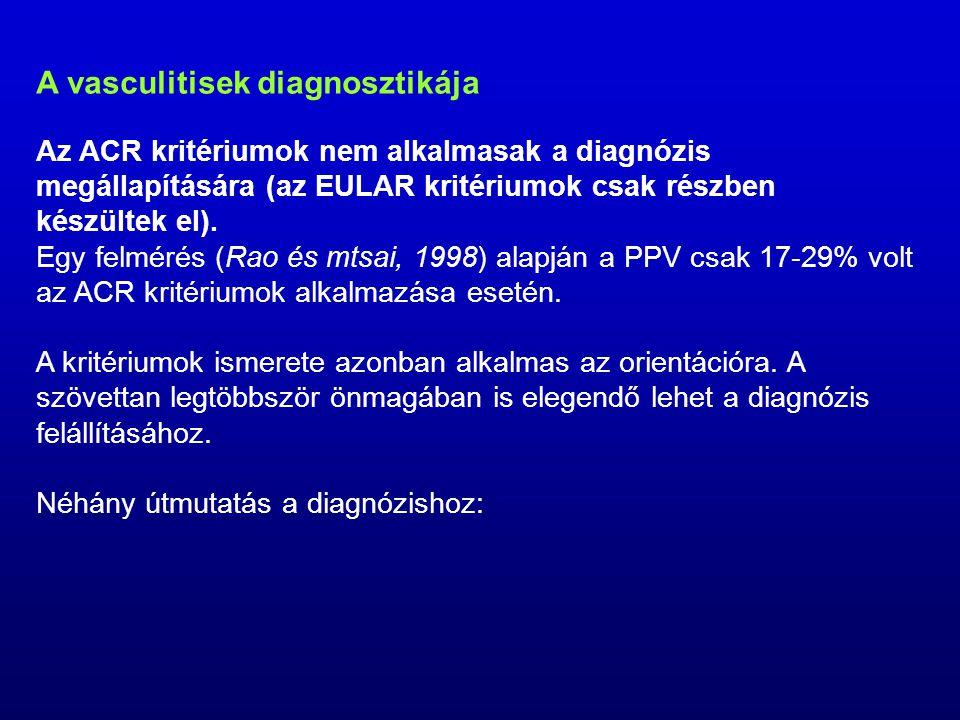 A vasculitisek diagnosztikája