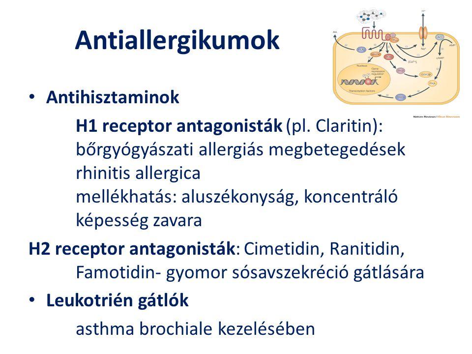 Antiallergikumok Antihisztaminok