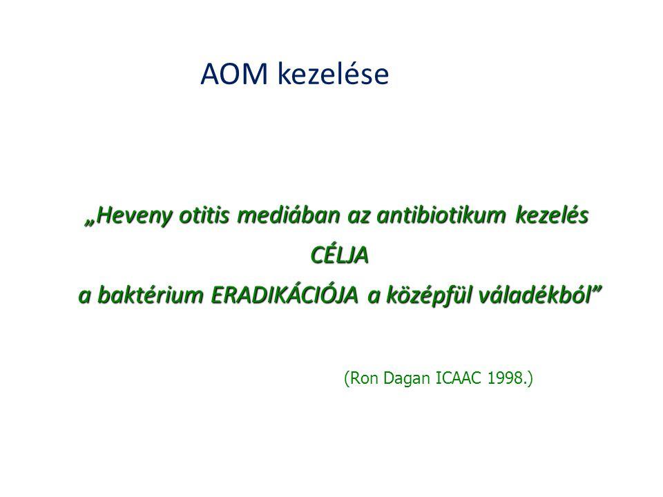 """AOM kezelése """"Heveny otitis mediában az antibiotikum kezelés CÉLJA"""