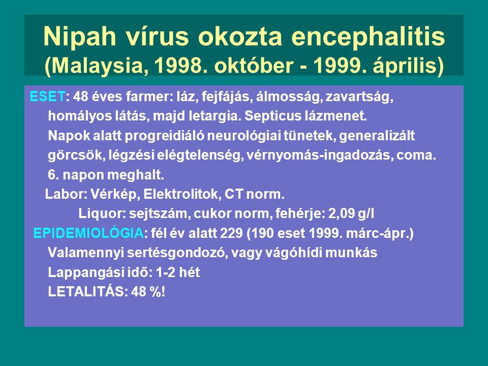 Nipah vírus okozta encephalitis (Malaysia, 1998. október - 1999