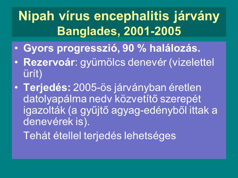 Nipah vírus encephalitis járvány Banglades, 2001-2005