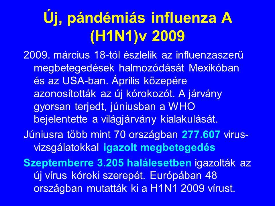 Új, pándémiás influenza A (H1N1)v 2009