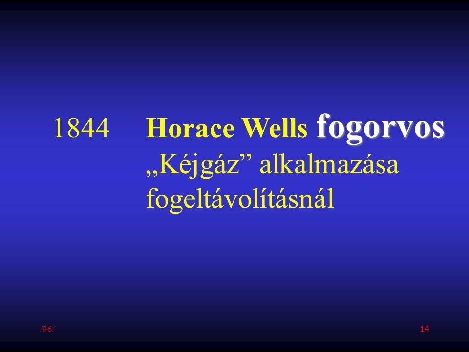 """1844 Horace Wells fogorvos """"Kéjgáz alkalmazása fogeltávolításnál /96/"""