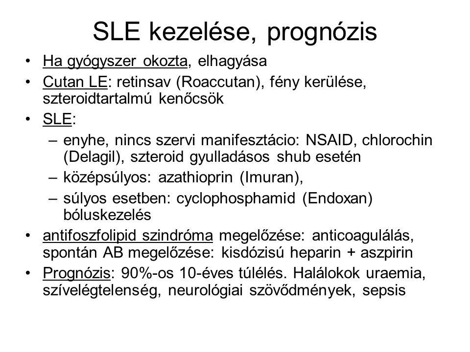 SLE kezelése, prognózis