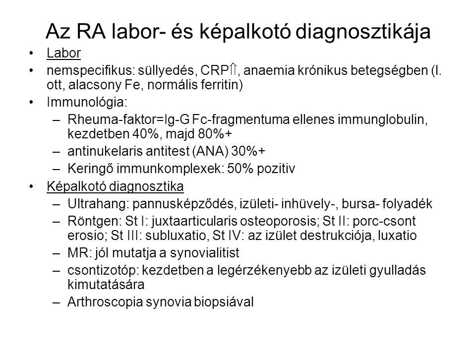 Az RA labor- és képalkotó diagnosztikája