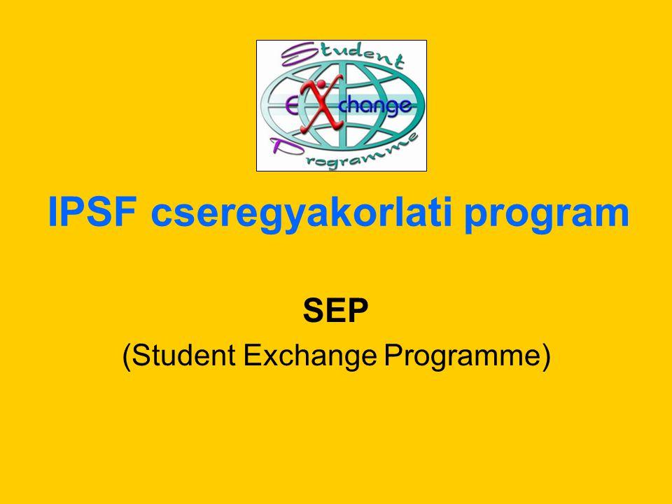IPSF cseregyakorlati program