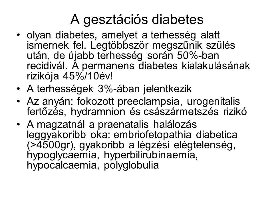 A gesztációs diabetes