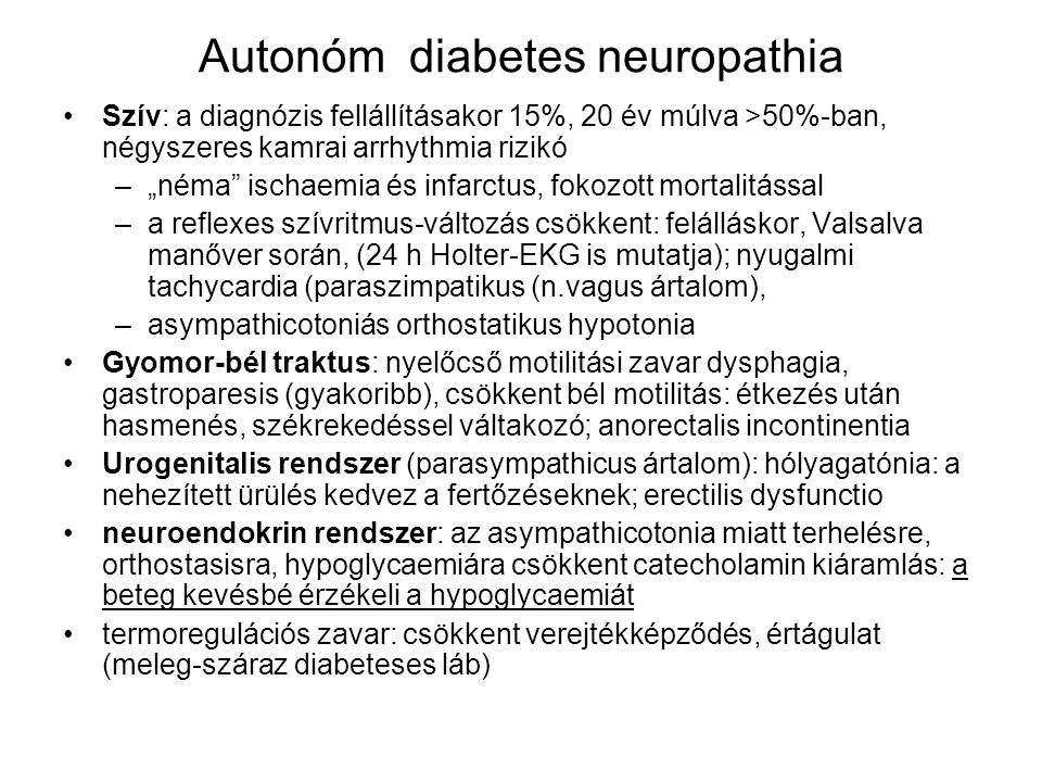 Autonóm diabetes neuropathia
