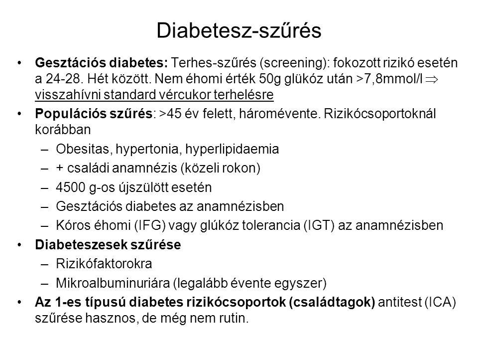 Diabetesz-szűrés