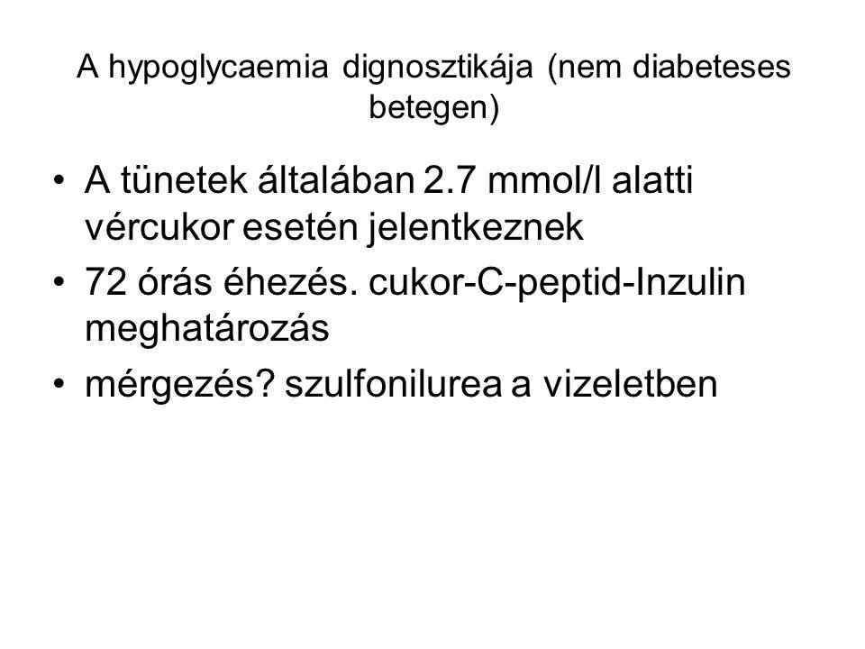 A hypoglycaemia dignosztikája (nem diabeteses betegen)