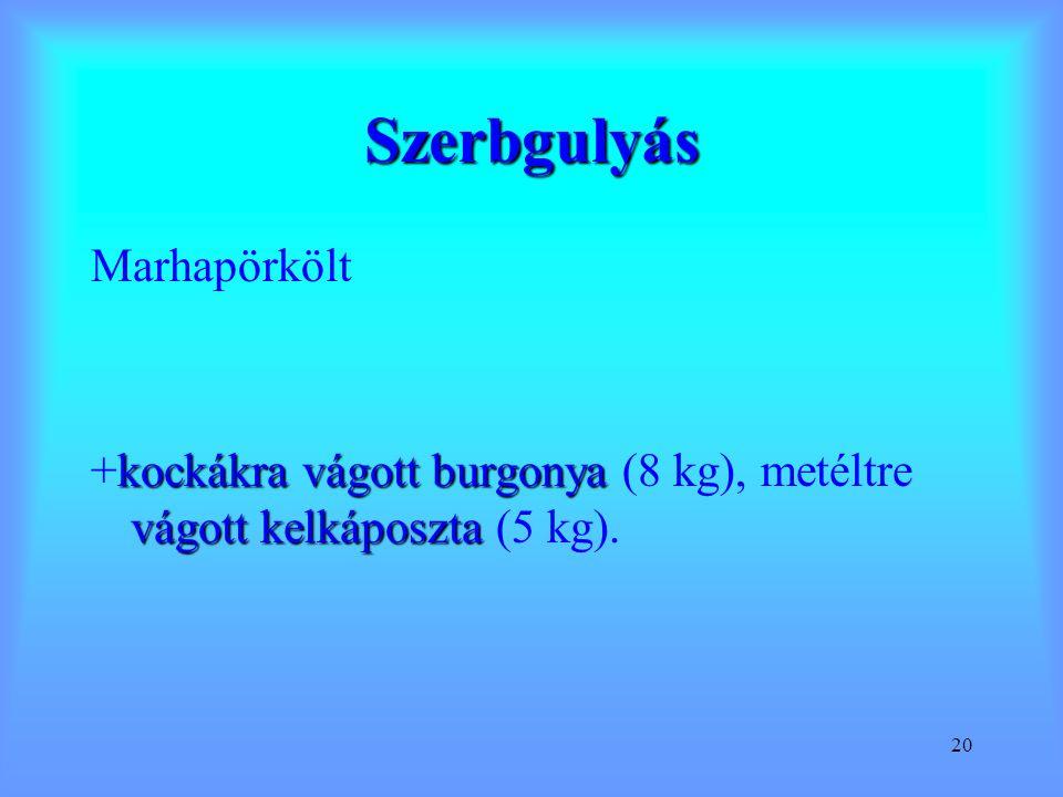 Szerbgulyás Marhapörkölt