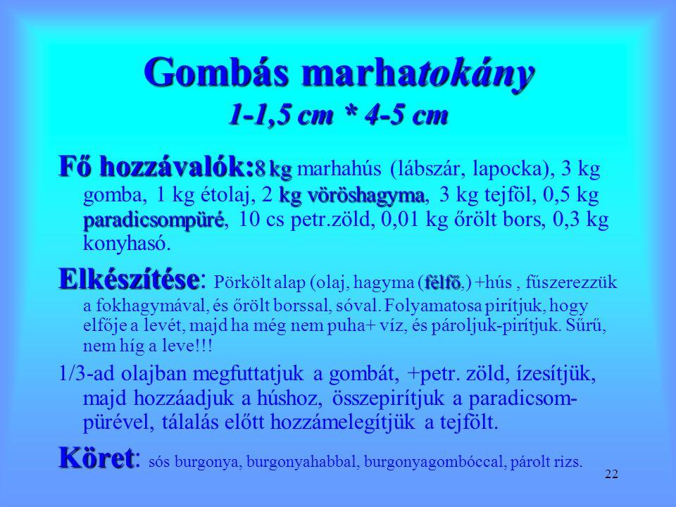 Gombás marhatokány 1-1,5 cm * 4-5 cm