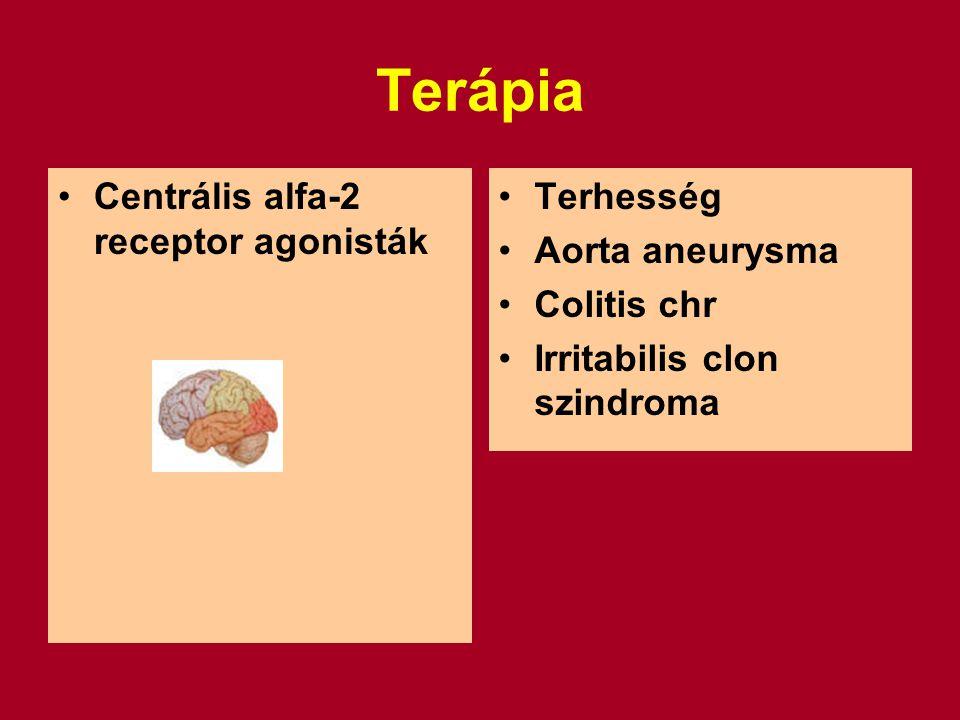 Terápia Centrális alfa-2 receptor agonisták Terhesség Aorta aneurysma