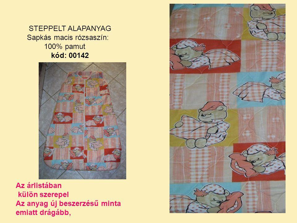 Sapkás macis rózsaszín: 100% pamut kód: 00142