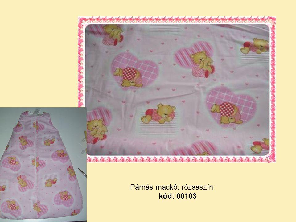 Párnás mackó: rózsaszín